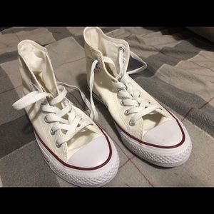 Brand new never worn white high top converse